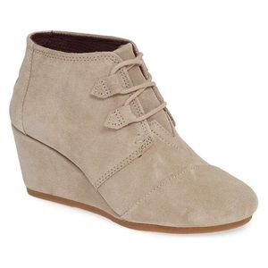 TOMS - Kala Suede Wedge Bootie BRAND NEW